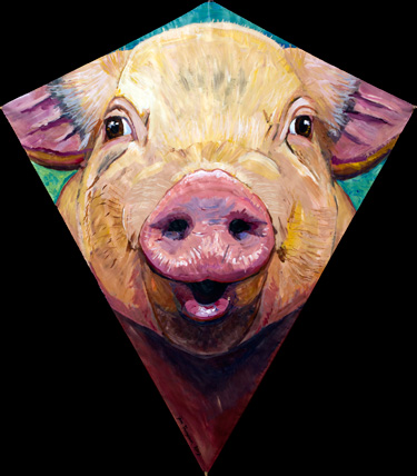Smiley Pig Kite