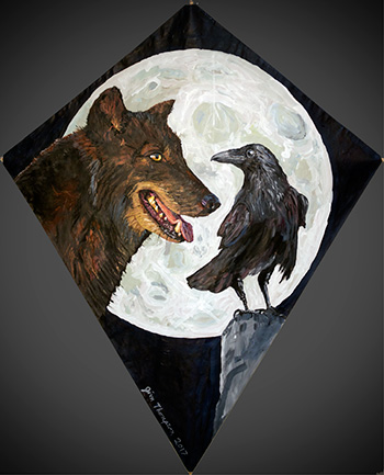 Wolf and Raven kite